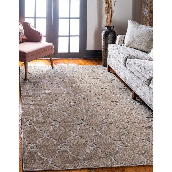 Garrity Brown/Beige Indoor/Outdoor Area Rug by Charlton Home