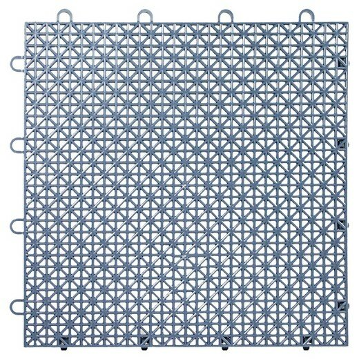 Armadillo Floor 12.63 x 12.63 Tile in Steel Blue (