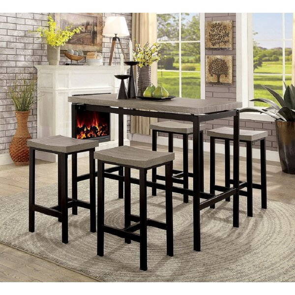 Mccandless 5 Piece Counter Height Dining Set by 17 Stories 17 Stories