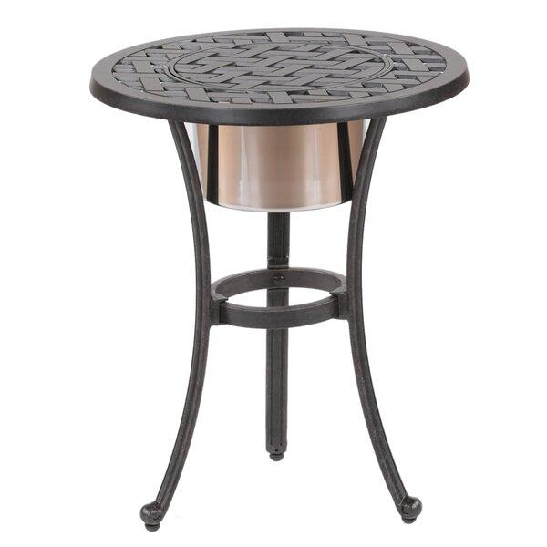 Lehmann Round Ice Bucket Bistro Table by Three Posts