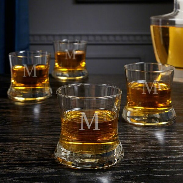 McCombs Personalized 10 oz. Glass Cocktail Glass (Set of 4) by Orren Ellis
