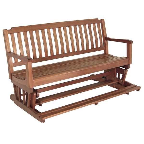 Teak Glider Bench by Whitecap Industries