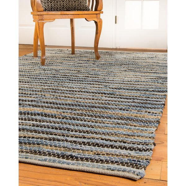Malibu Hand-Loomed Blue/Brown Area Rug by Natural Area Rugs