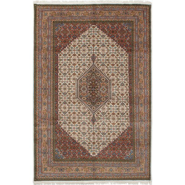 One-of-a-Kind Kenda Hand-Knotted Wool Ivory Area Rug by Isabelline
