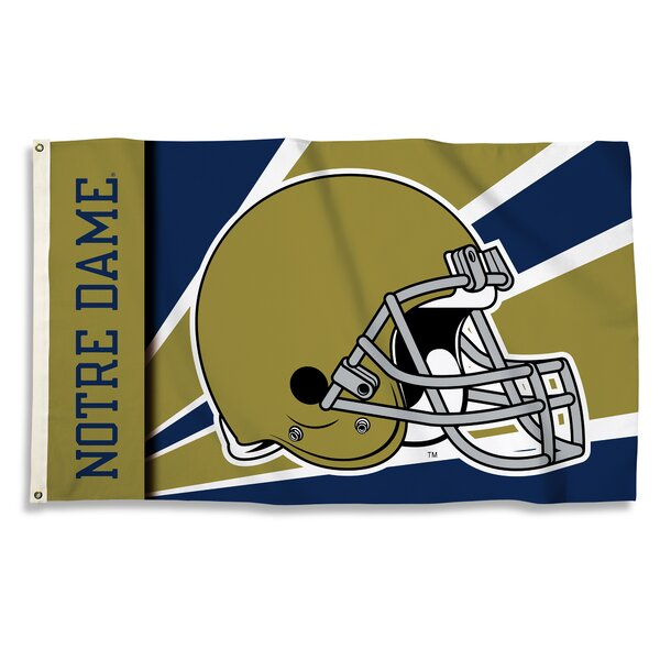 NCAA Helmet 2-Sided Polyester Flag by BSI Products