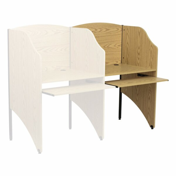 Oak 49.63 Study Carrel by Offex