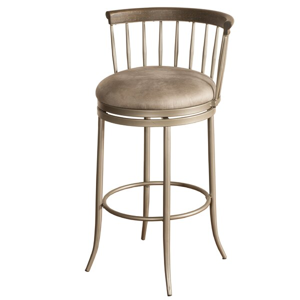 Thach 30'' Swivel Bar Stool by Everly Quinn