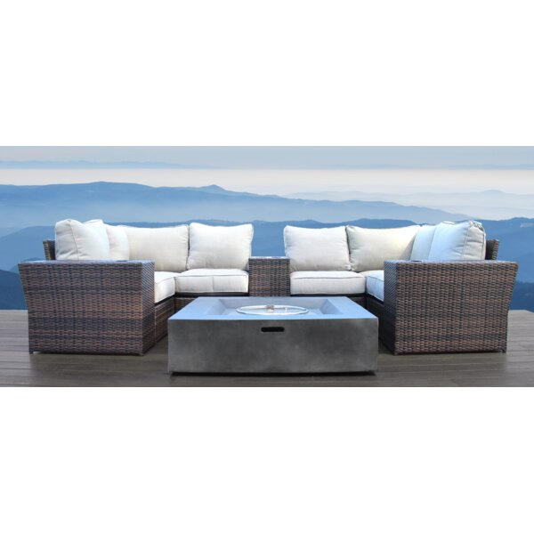 Widener 10 Piece Sectional Seating Group with Cushions by Sol 72 Outdoor