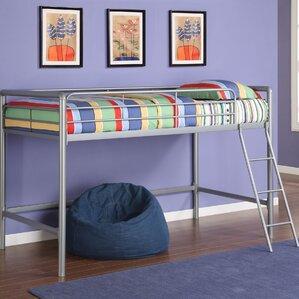 myron junior twin low loft bed - Loft Twin Bed Frame