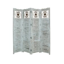 84 X 76 Nantucket 4 Panel Room Divider by Screen Gems