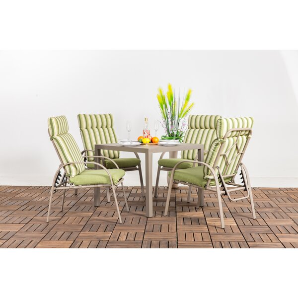 Thorin 5 Piece Dining Set with Cushions by Red Barrel Studio
