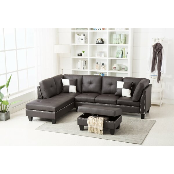 Bush Sectional with Ottoman by Ebern Designs