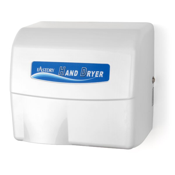 Economy Series Painted Cast Aluminum 110/120 Volt Hand Dryer in White by Palmer Fixture