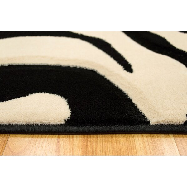 White/Black Area Rug by Brady Home