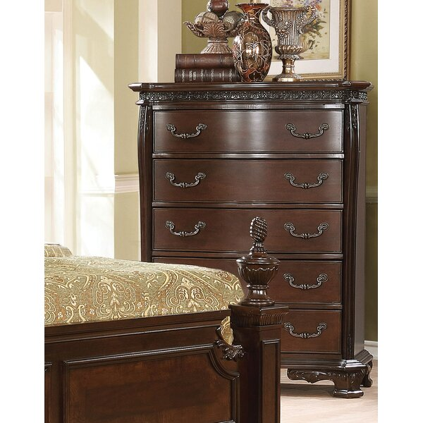 Rishel Traditional 5 Drawer Standard Chest by Astoria Grand