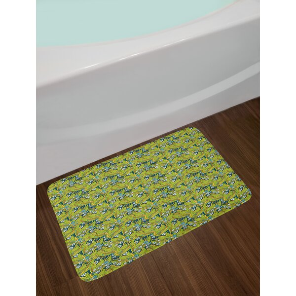 Mother Nature Pansy Floral Bath Rug by East Urban Home
