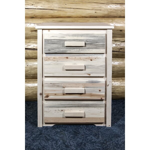 Abella 4 Drawer Standard Dresser/Chest by Loon Peak