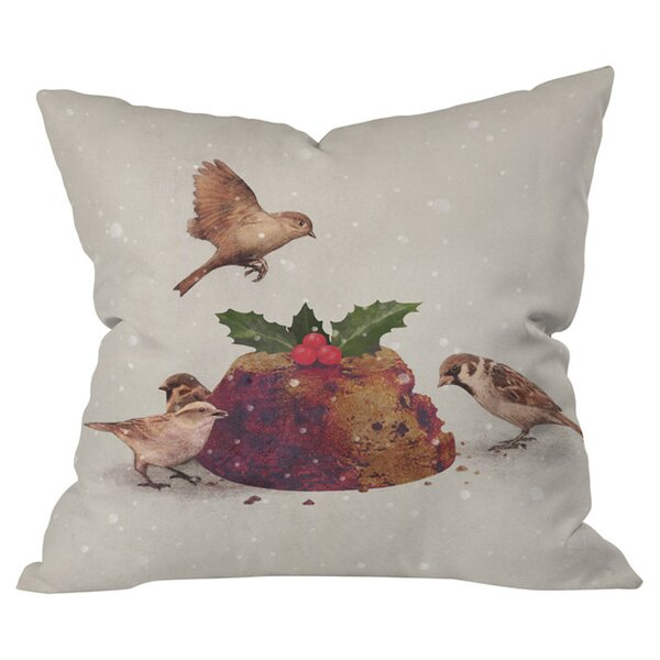 Christmas Pudding Raid Outdoor Throw Pillow by Deny Designs
