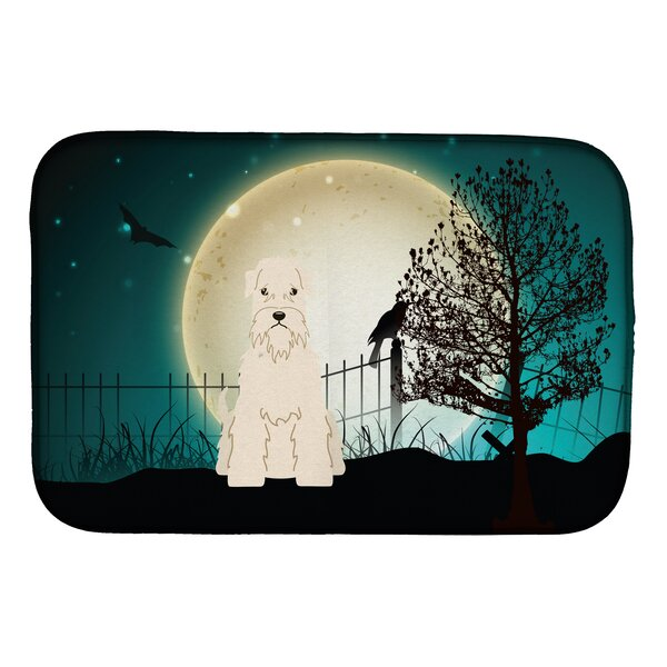 Halloween Scary Soft Coated Wheaten Terrier Dish Drying Mat by Caroline's Treasures