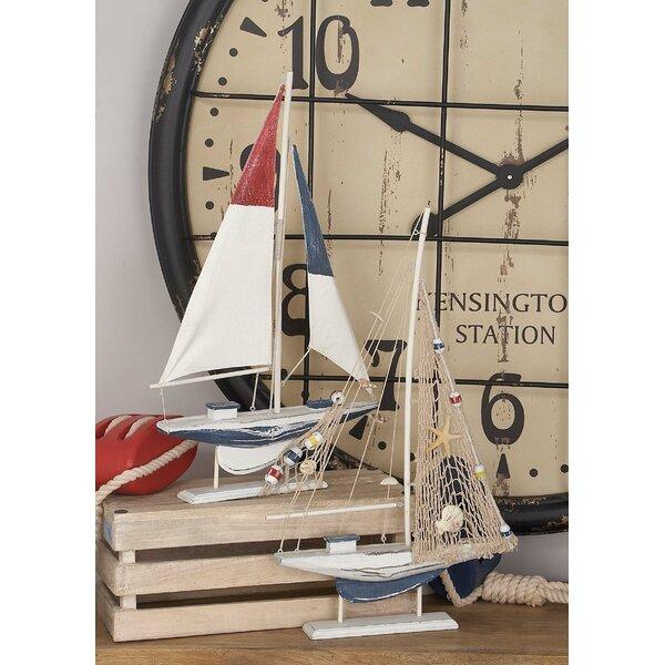2 Piece Sailing Model Boat Set by Breakwater Bay