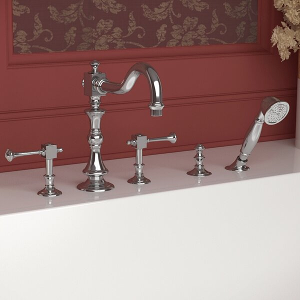 Triple Handle Deck Mount Roman Bathtub Faucet with Shower Wand by ANZZI