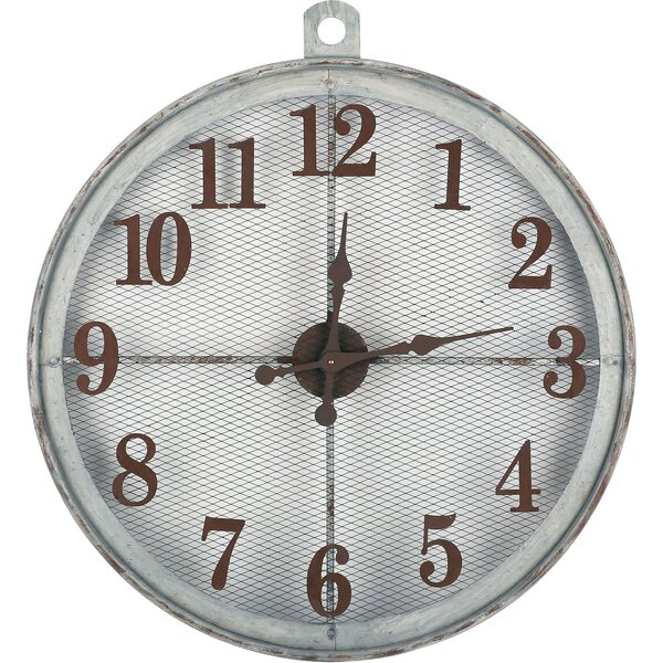 Oversized Nasim Industrial Look 32 Wall Clock by Gracie Oaks