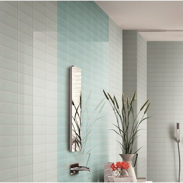 3 x 6 Glass Tile in White by Multile