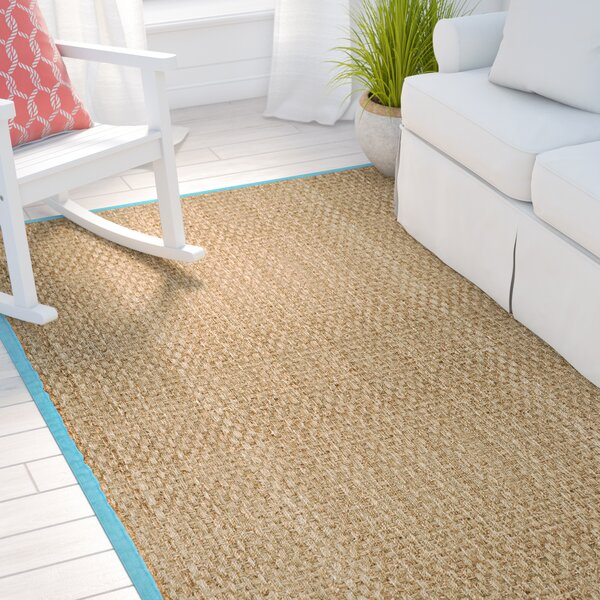 Richmond Natural/Turquoise Area Rug by Beachcrest Home