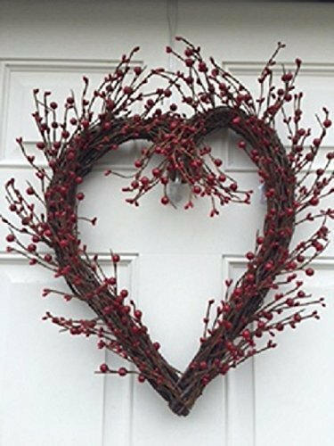 Rustic Twig Berry Heart Wreath by The Holiday Aisle