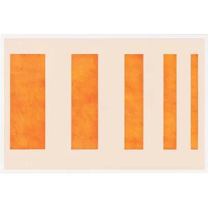 'Modern Art - Orange Levies' Graphic Art Print by East Urban Home