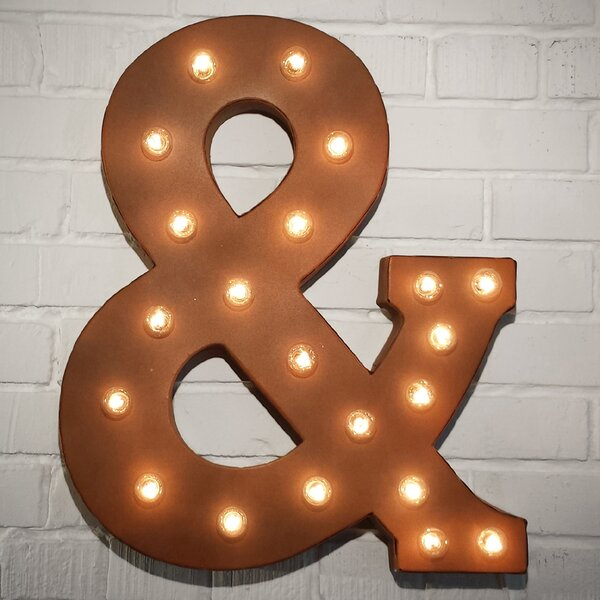 Mortimer Ampersand Letter Marquee Sign by Greyleig