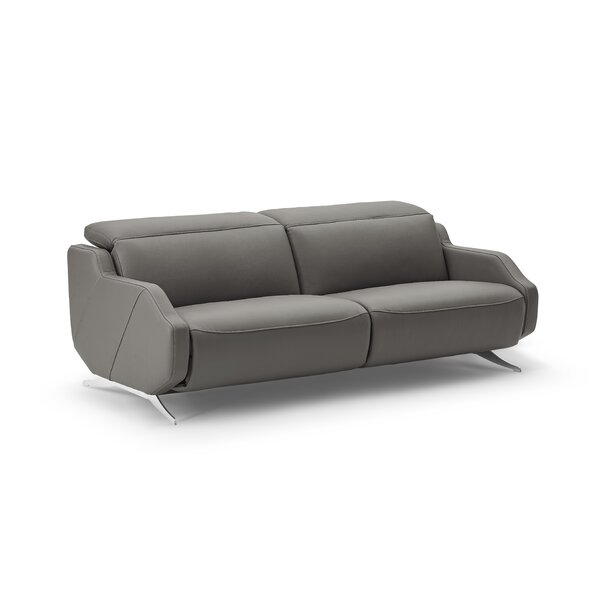 Berlinville Leather Reclining Loveseat by Orren Ellis
