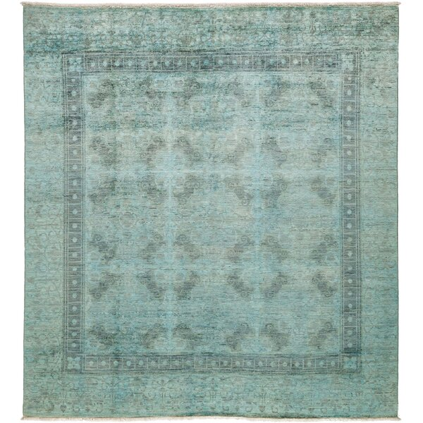 One-of-a-Kind Vibrance Hand-Knotted Light Blue Area Rug by Darya Rugs