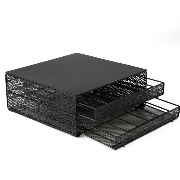 72 Pod Storage Tray with Flower Pattern Metal Mesh by Mind Reader