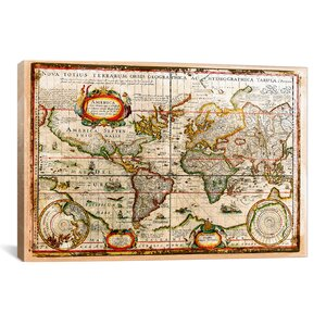 'Vintage Map' Graphic Art on Wrapped Canvas by Bay Isle Home