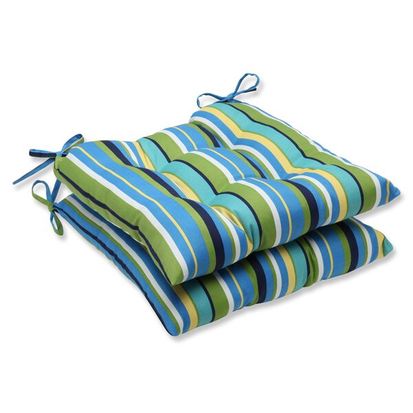 Topanga Indoor/Outdoor Dining Chair Cushion (Set of 2) by Pillow Perfect