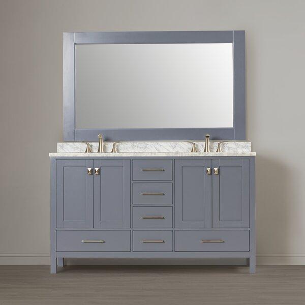 Carrasquillo 60 Double Bathroom Vanity Set with Mirror