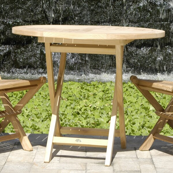 Quinlan Teak Folding Dining Table by Darby Home Co