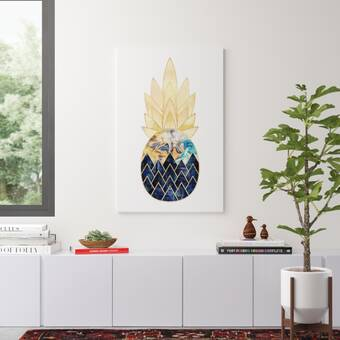 Precious Pineapple I By Elisabeth Fredriksson Picture Frame Graphic Art Print On Canvas Reviews Allmodern