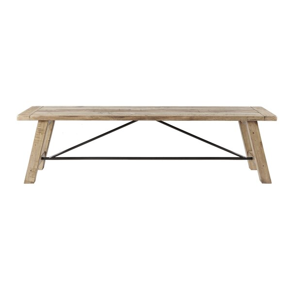 Maiorano Wood Bench by Mistana