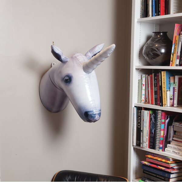 Inflatable Unicorn Faux Taxidermy by The Holiday Aisle