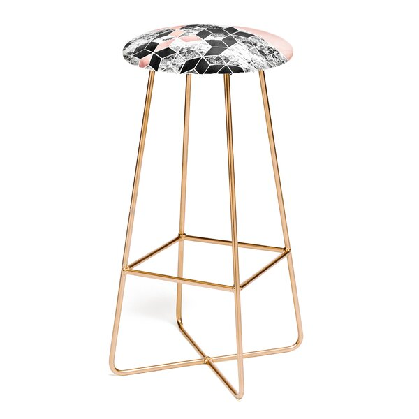 Elisabeth Fredriksson Rose Clouds And Birch 30 Bar Stool by East Urban Home