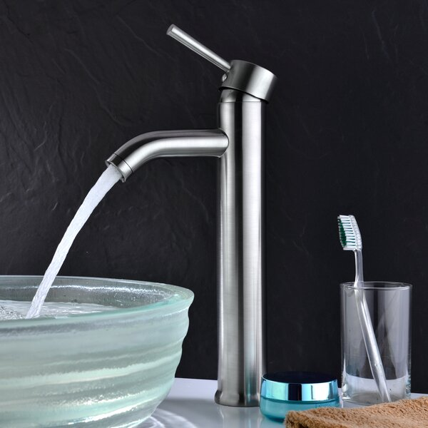 Fann Vessel Lever Bathroom Faucet with Drain Assembly by ANZZI