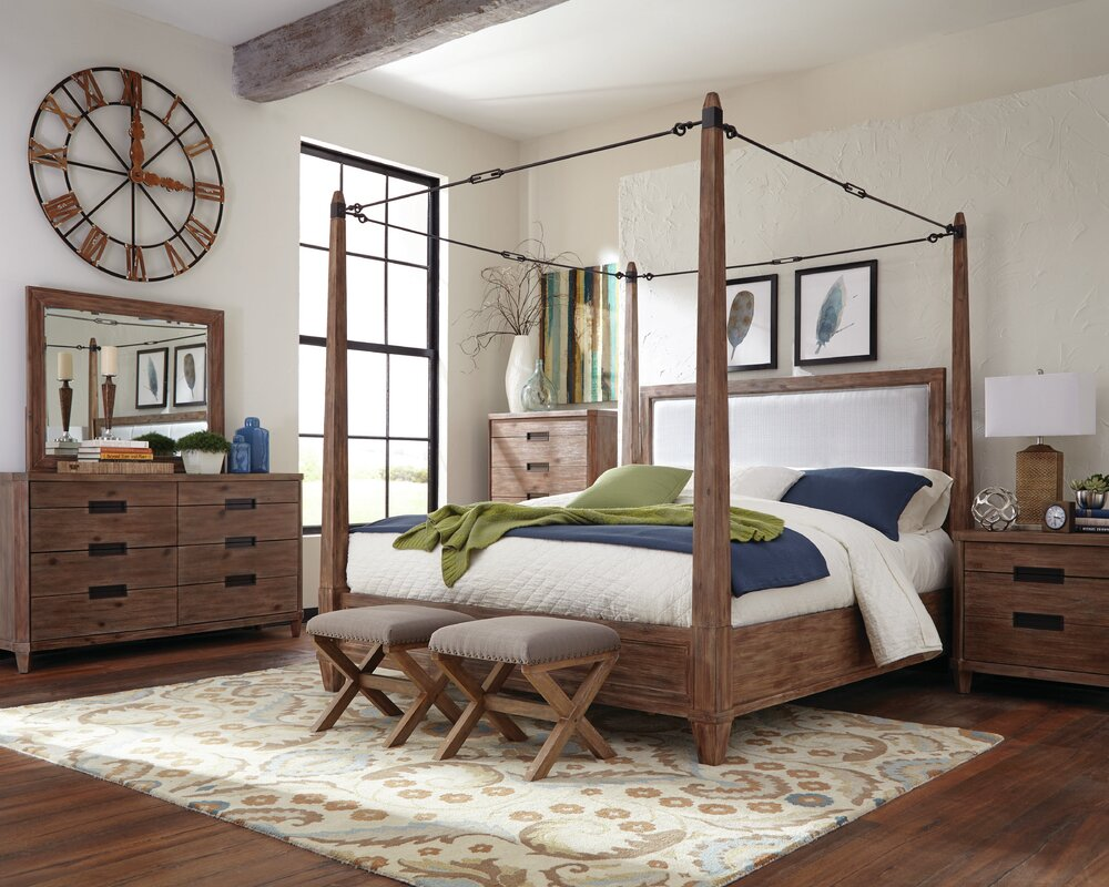 Donny Osmond Madeleine Upholstered Canopy Bed & Reviews