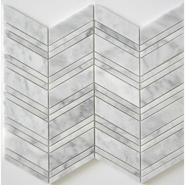 Random Sized Mosaic Tile in Bianco Carrara by Ephesus Stones
