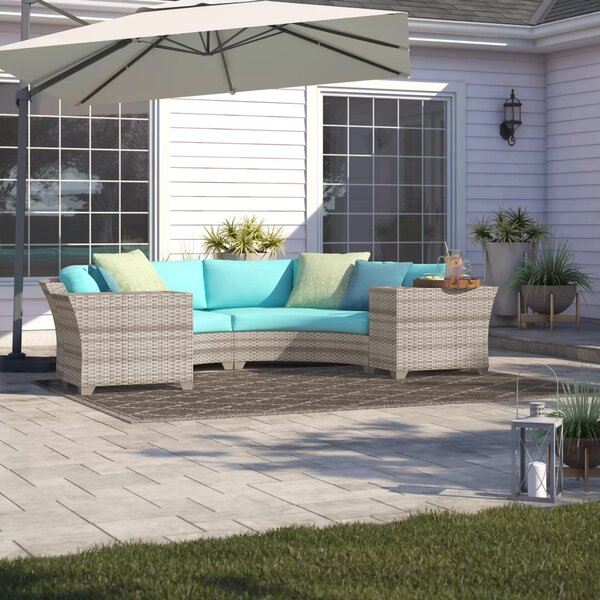 Falmouth 4 Piece Rattan Sectional Seating Group With Cushions By Sol 72 Outdoor by Sol 72 Outdoor Best #1