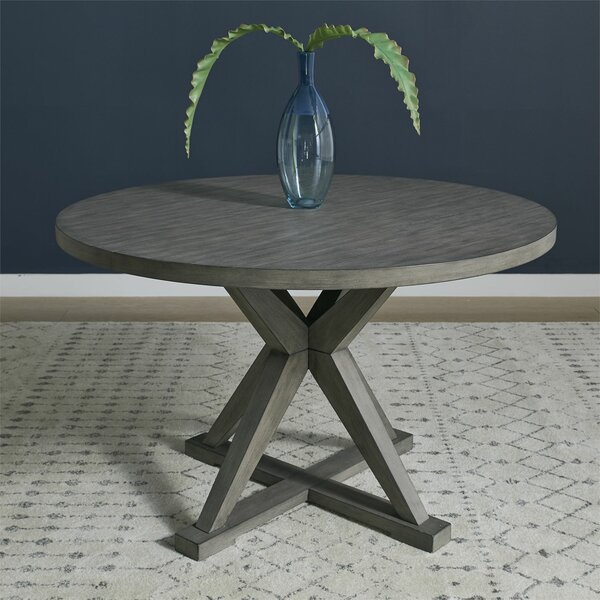 Altheimer Round Pedestal Dining Table by Gracie Oaks