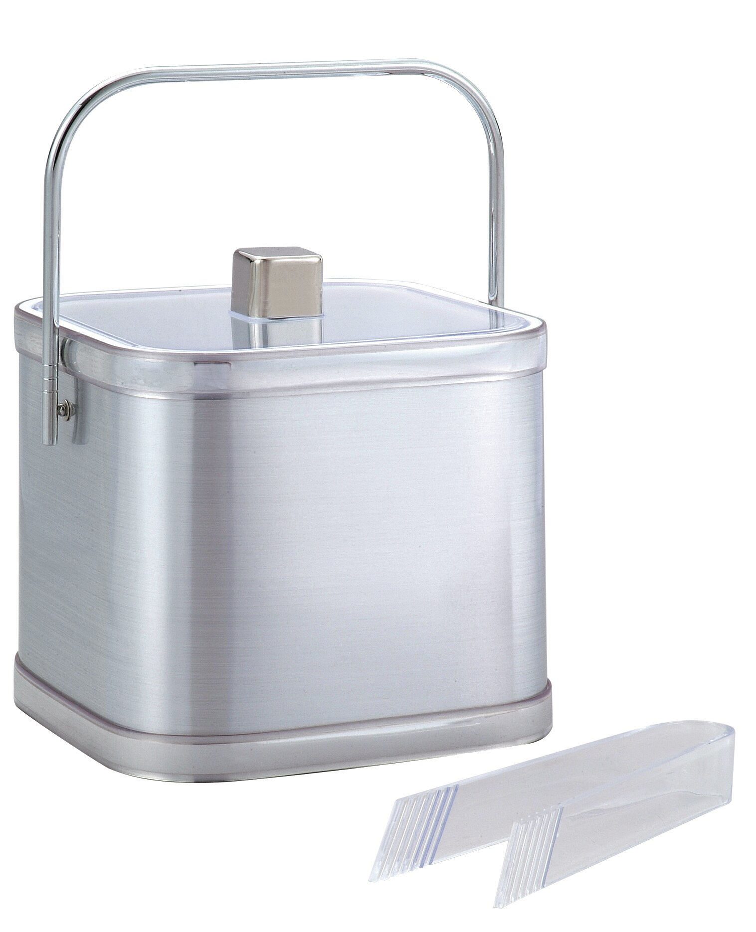 Chenco Inc 2 Qt Double Wall Square Ice Bucket With Ice Tong Reviews Wayfair