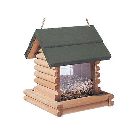 Log Cabin Hopper Bird Feeder by North States