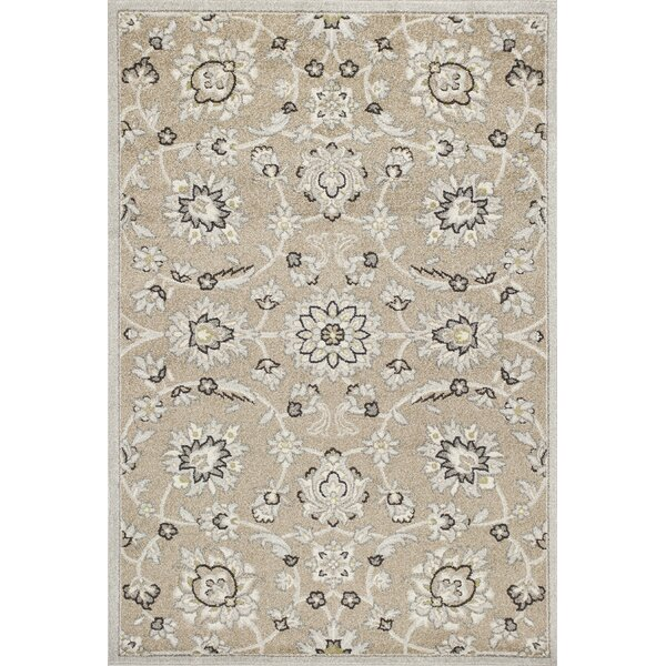 Hershel Beige/Gray Indoor/Outdoor Area Rug by Andover Mills